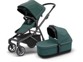 Детская коляска с люлькой Thule Sleek (Mallard Green on Black) 280x210 - Фото