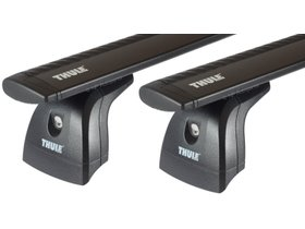 Багажник в штатные места Thule Wingbar Black для Renault Modus (mkI) 2004-2012