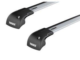Багажник на интегрированные рейлинги Thule Wingbar Edge для Volvo XC60 (mkI) 2008-2017