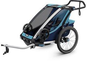 Детская коляска Thule Chariot Cross 1 (Blue-Poseidon) 280x210 - Фото