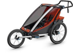 Детская коляска Thule Chariot Cross 1 (Roarange-Dark Shadow) 280x210 - Фото 6
