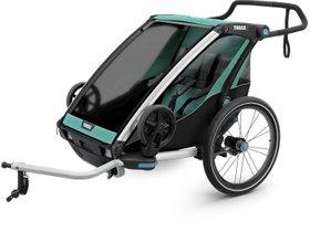 Детская коляска Thule Chariot Lite 2 (Blue Grass-Black) 280x210 - Фото