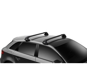Багажник на гладкую крышу Thule Edge Wingbar Black для Ford Ranger (mkIII)(T6)(double cab); Mazda BT-50 (mkII)(double cab) 2011→ 280x210 - Фото 2