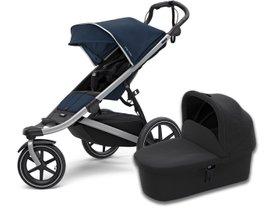 Детская коляска с люлькой Thule Urban Glide2 (Alu/ Majolica Blue)