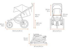 Детская коляска Thule Urban Glide 2 (Blue) 280x210 - Фото 4