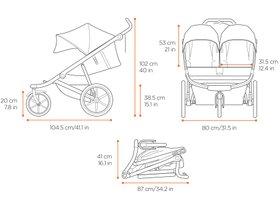 Детская коляска Thule Urban Glide Double 2 (Jet Black) 280x210 - Фото 5