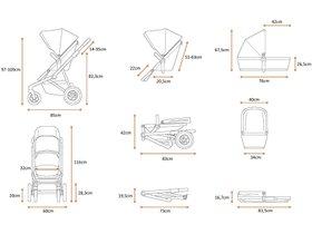 Детская коляска с люлькой Thule Sleek (Grey Melange) 280x210 - Фото 5