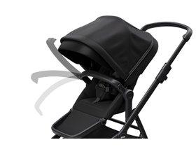 Детская коляска с люлькой Thule Sleek (Black on Black) 280x210 - Фото 8
