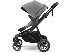 Детская коляска с люлькой Thule Sleek (Black/Grey Melange) 280x210 - Фото 3