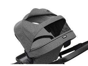 Детская коляска с люлькой Thule Sleek (Black/Grey Melange) 280x210 - Фото 7