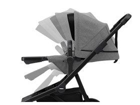 Детская коляска с люлькой Thule Sleek (Black/Grey Melange) 280x210 - Фото 8