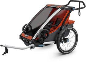 Детская коляска Thule Chariot Cross 1 (Roarange-Dark Shadow) 280x210 - Фото