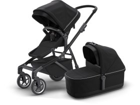 Детская коляска с люлькой Thule Sleek (Midnight Black on Black) 280x210 - Фото