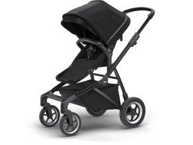 Детская коляска с люлькой Thule Sleek (Midnight Black on Black) 280x210 - Фото 3