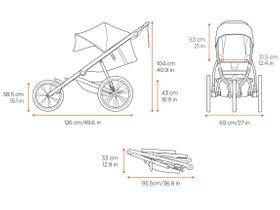 Детская коляска Thule Glide 2 (Jet Black) 280x210 - Фото 4