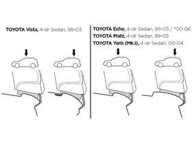 Монтажный комплект Thule 1187 для Toyota Echo (mkI) 1998-2005 280x210 - Фото 2