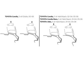 Монтажный комплект Thule 1205 для Toyota Corolla (mkIX)(E120)(хетчбэк и универсал) 2000-2007 280x210 - Фото 2