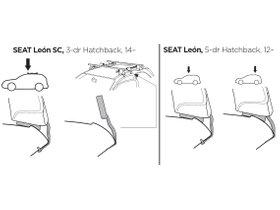 Монтажный комплект Thule 1707 для Seat Leon (mkIII)(хетчбэк) 2012-2020 280x210 - Фото 2
