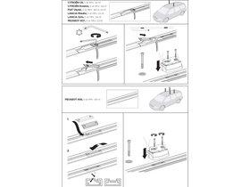 Монтажный комплект Thule 3035 для Peugeot 806/807; Citroen Evasion/C8; Lancia Zeta/Phedra; Fiat Ulysse (mkI-mkII) 1994-2010 280x210 - Фото 2