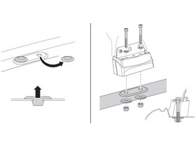 Монтажный комплект Thule 3045 для Renault Master; Opel Movano; Nissan Interstar (mkII) 1998-2010 280x210 - Фото 2
