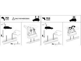 Монтажный комплект Thule 3084 для Mercedes-Benz Vito/Viano (W638;W447) 1996→; Chrysler PT Cruiser (mkI) 1996-2010; Citroen Xantia (mkI)(универсал) 1992-2002; Xsara (mkI)(универсал) 1996-2006; Troller T4 (mkI) 2015→ 280x210 - Фото 2