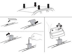 Монтажный комплект Thule 3092 для Suzuki SX4 (mkI)(седан и хетчбэк) 2006-2013; SX4 S-Cross (mkII) 2014→ 280x210 - Фото 2