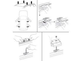 Монтажный комплект Thule 3110 для Fiat Punto (mkII)(5-дв. хетчбэк) 1999-2011 280x210 - Фото 2