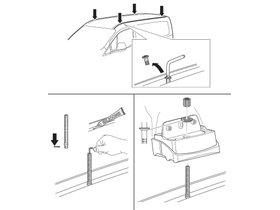 Монтажный комплект Thule 3140 для Ford Transit/Tourneo Courier (mkI) 2014→ 280x210 - Фото 2